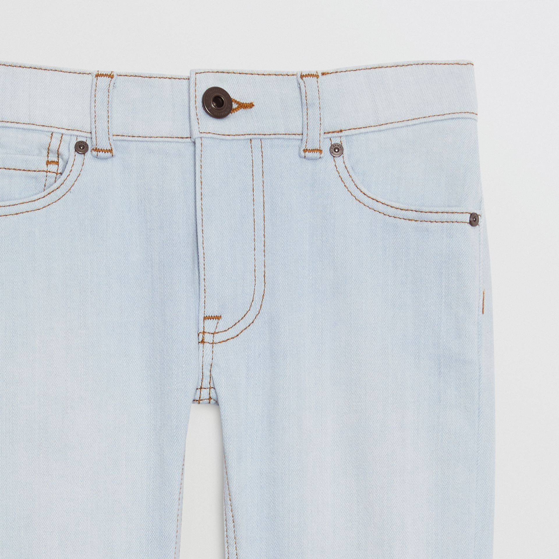 Skinny Fit Stretch Jeans in Light Blue - Boy | Burberry Hong Kong - gallery image 4