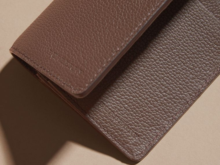 Deep taupe brown Grainy Leather Continental Wallet Deep Taupe Brown - cell image 1