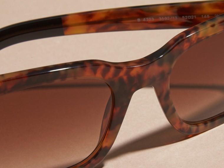 Tortoise shell Square Frame Sunglasses Tortoise Shell - cell image 1