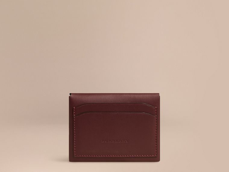 Deep claret Leather Coin Case Deep Claret - cell image 1