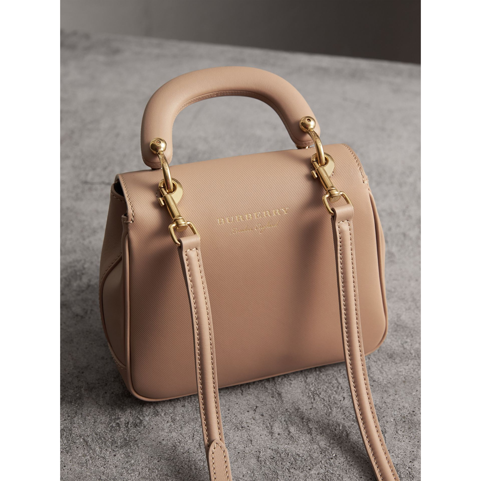 The Small DK88 Top Handle Bag in Honey - Women | Burberry - gallery image 5