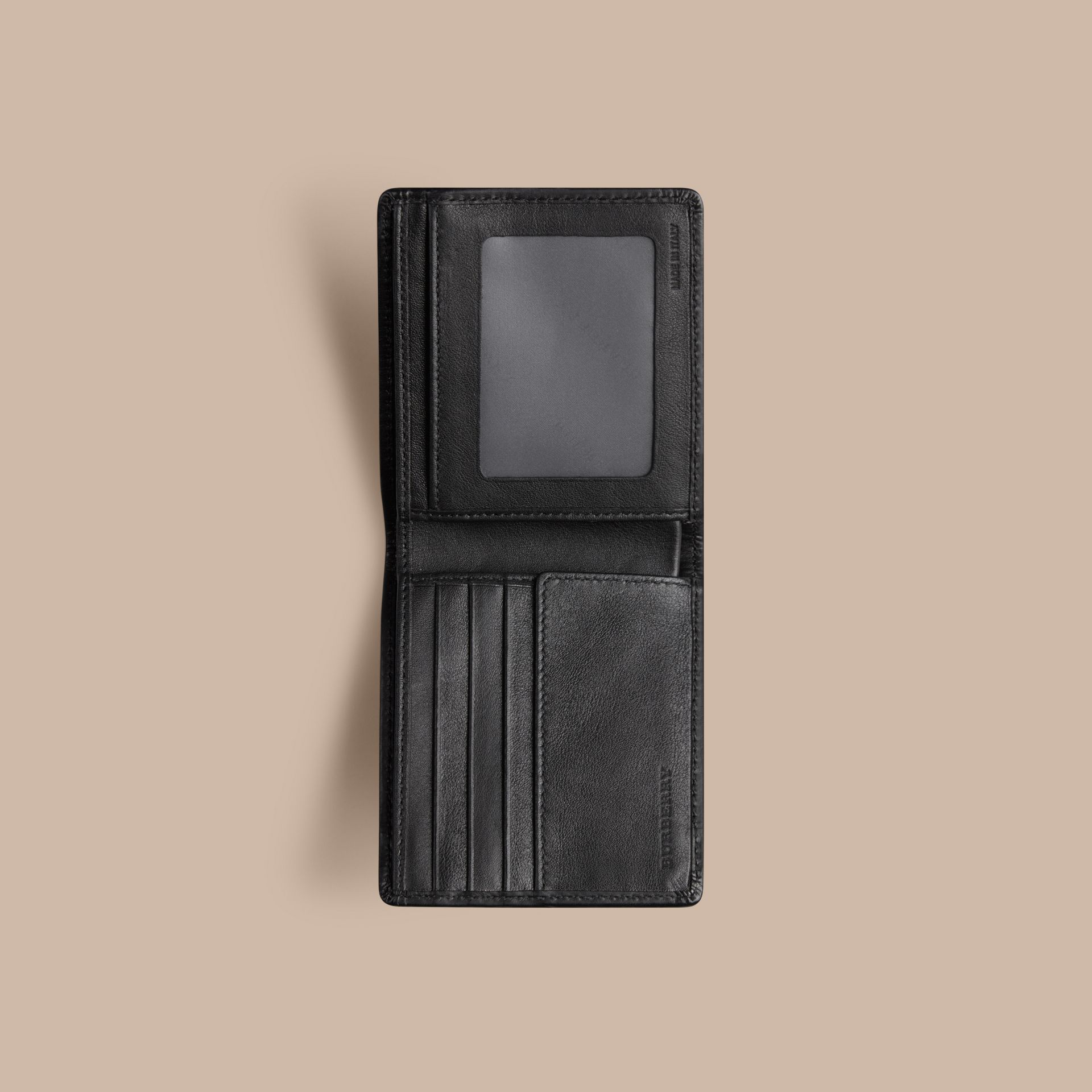 Horseferry Check ID Wallet in Charcoal/black - gallery image 4