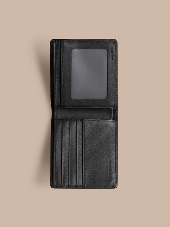 Horseferry Check ID Wallet in Charcoal/black - Men | Burberry - cell image 3