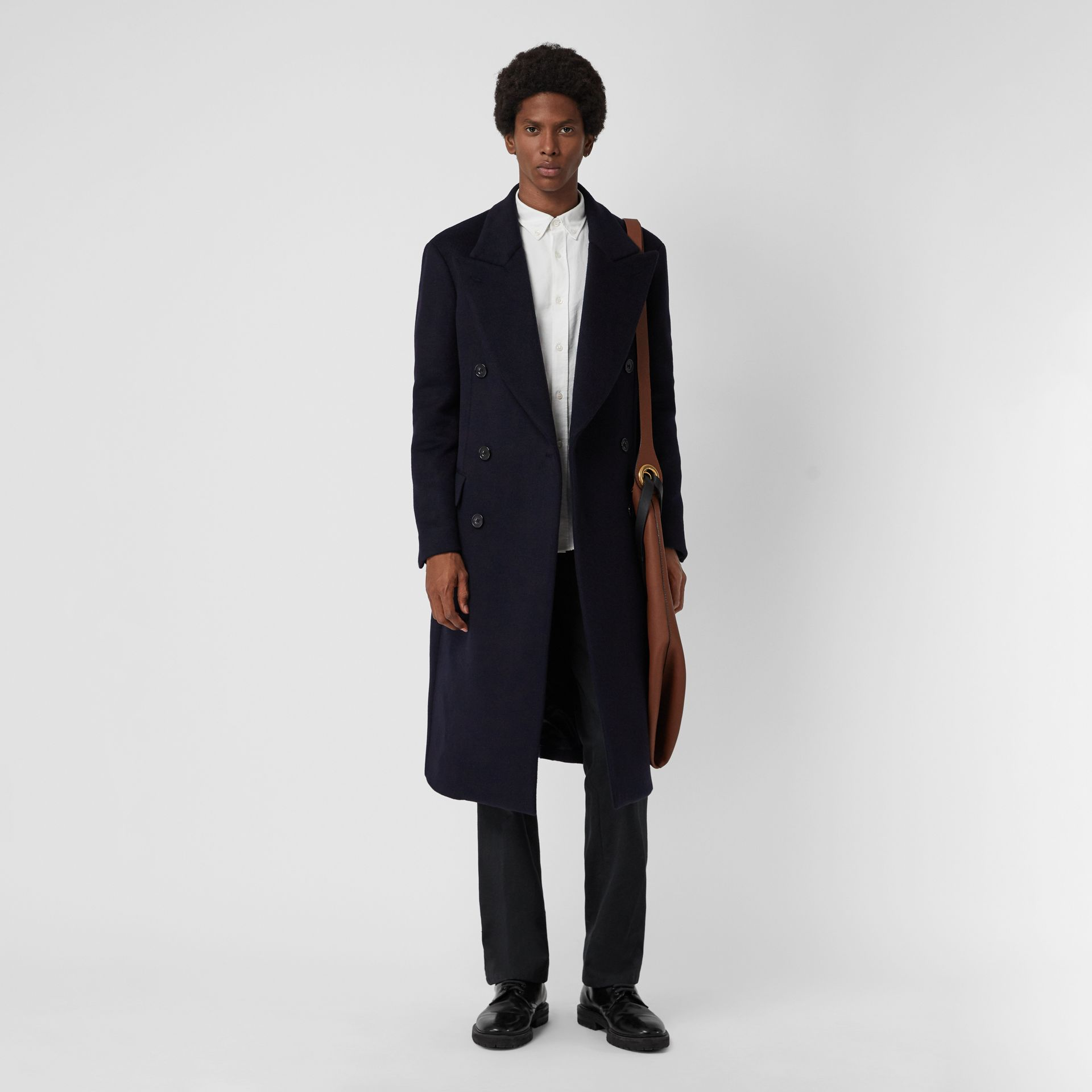 Double-faced Cashmere Tailored Coat in Navy - Men | Burberry Singapore - gallery image 0