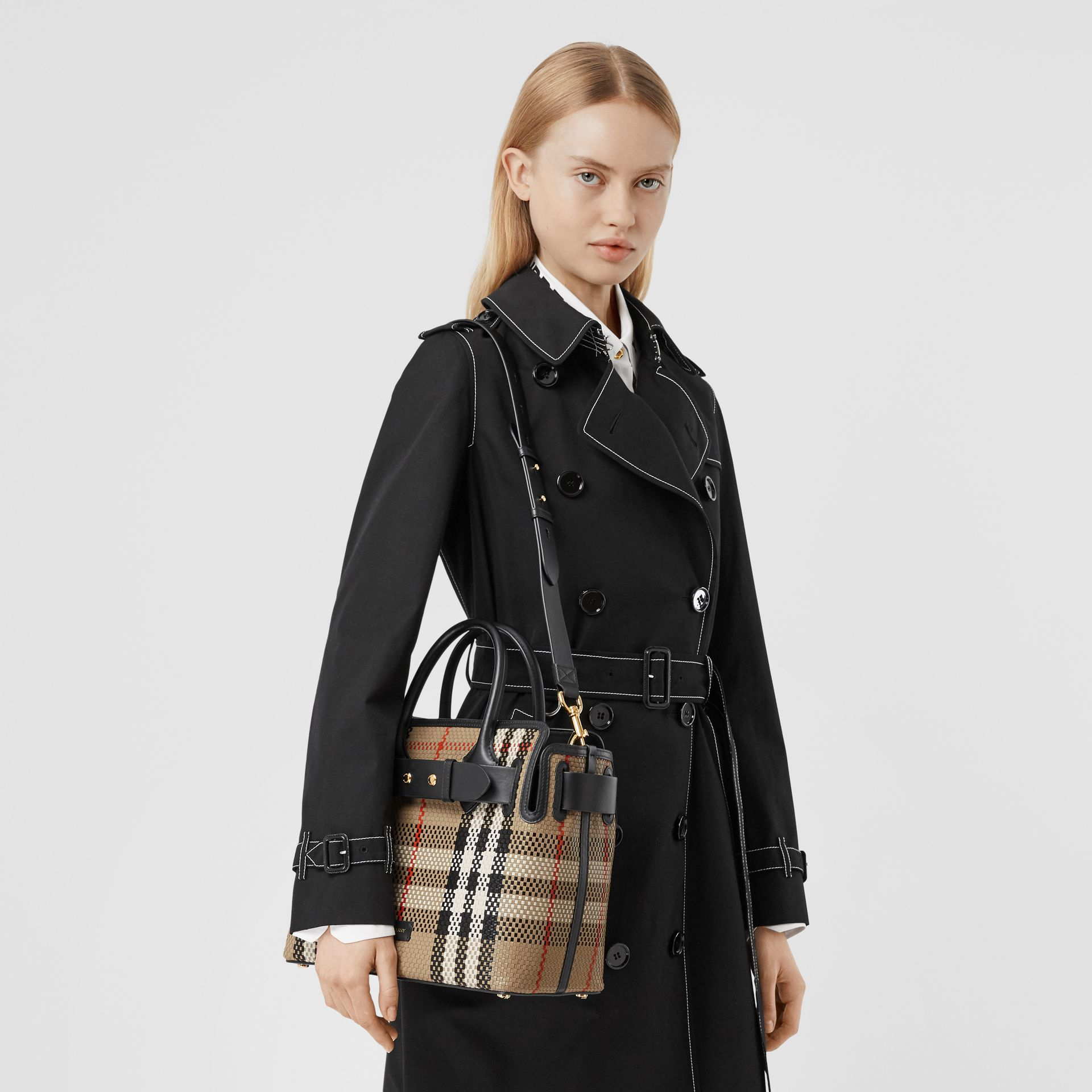 The Small Latticed Leather Triple Stud Belt Bag in Archive Beige - Women | Burberry United Kingdom - gallery image 2