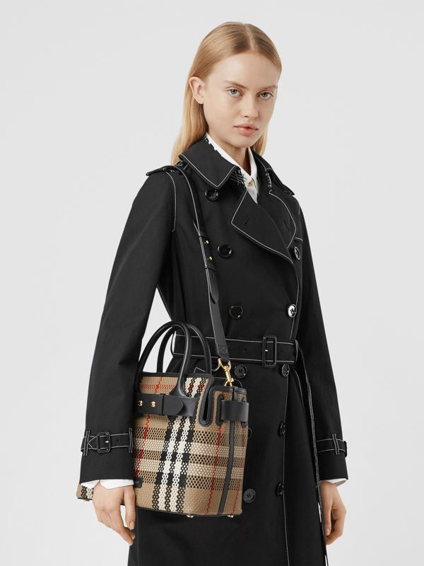 The Small Latticed Leather Triple Stud Belt Bag in Archive Beige - Women | Burberry United Kingdom - cell image 2
