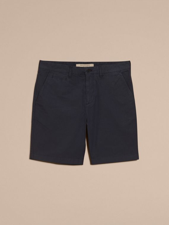 Cotton Poplin Chino Shorts in Indigo - Men | Burberry - cell image 3