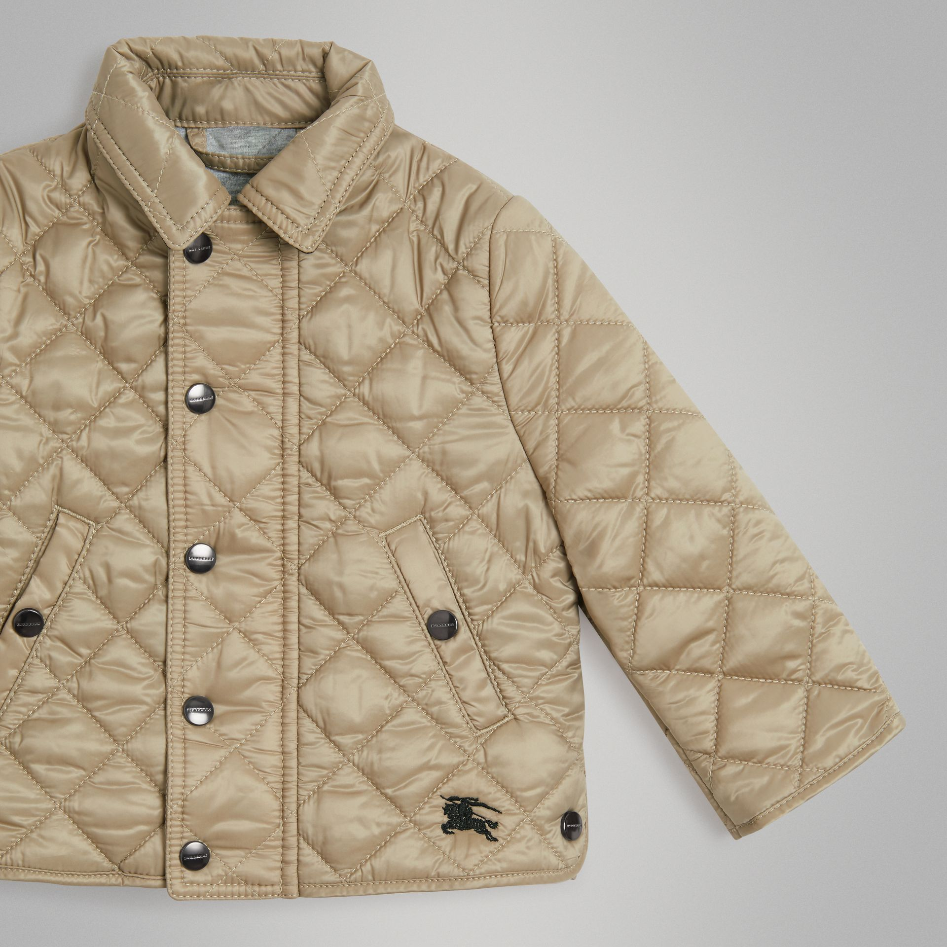 Lightweight Diamond Quilted Jacket in Mink - Children | Burberry - gallery image 4