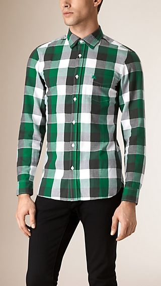 Regular Fit Buffalo Check Cotton Shirt