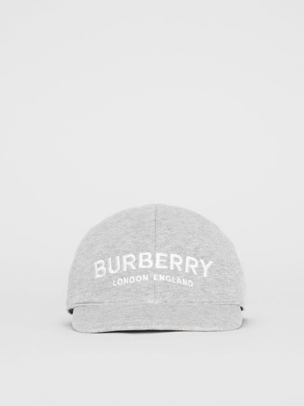 Embroidered Logo Baseball Cap in Light Grey Melange - Children | Burberry Canada - cell image 3