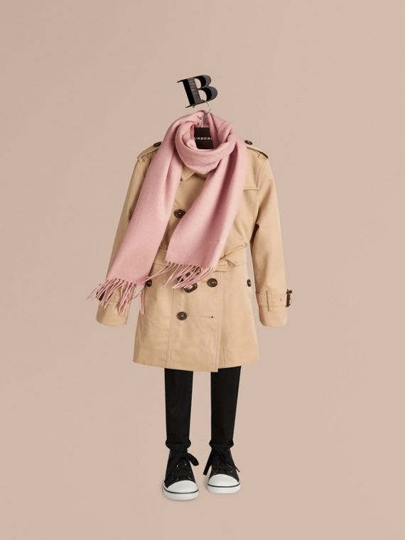 The Mini Classic Cashmere Scarf in Ash Rose - Girl | Burberry Canada - cell image 2