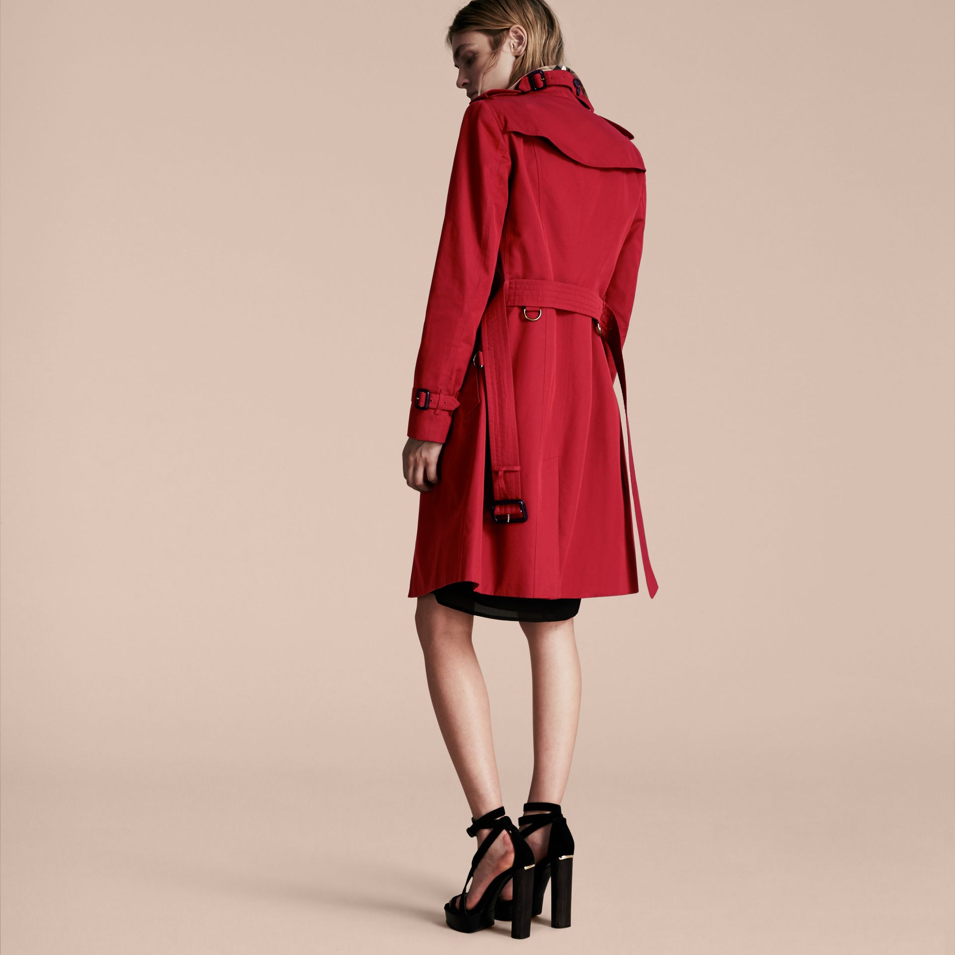 Parade red The Sandringham  – Long Heritage Trench Coat - gallery image 3