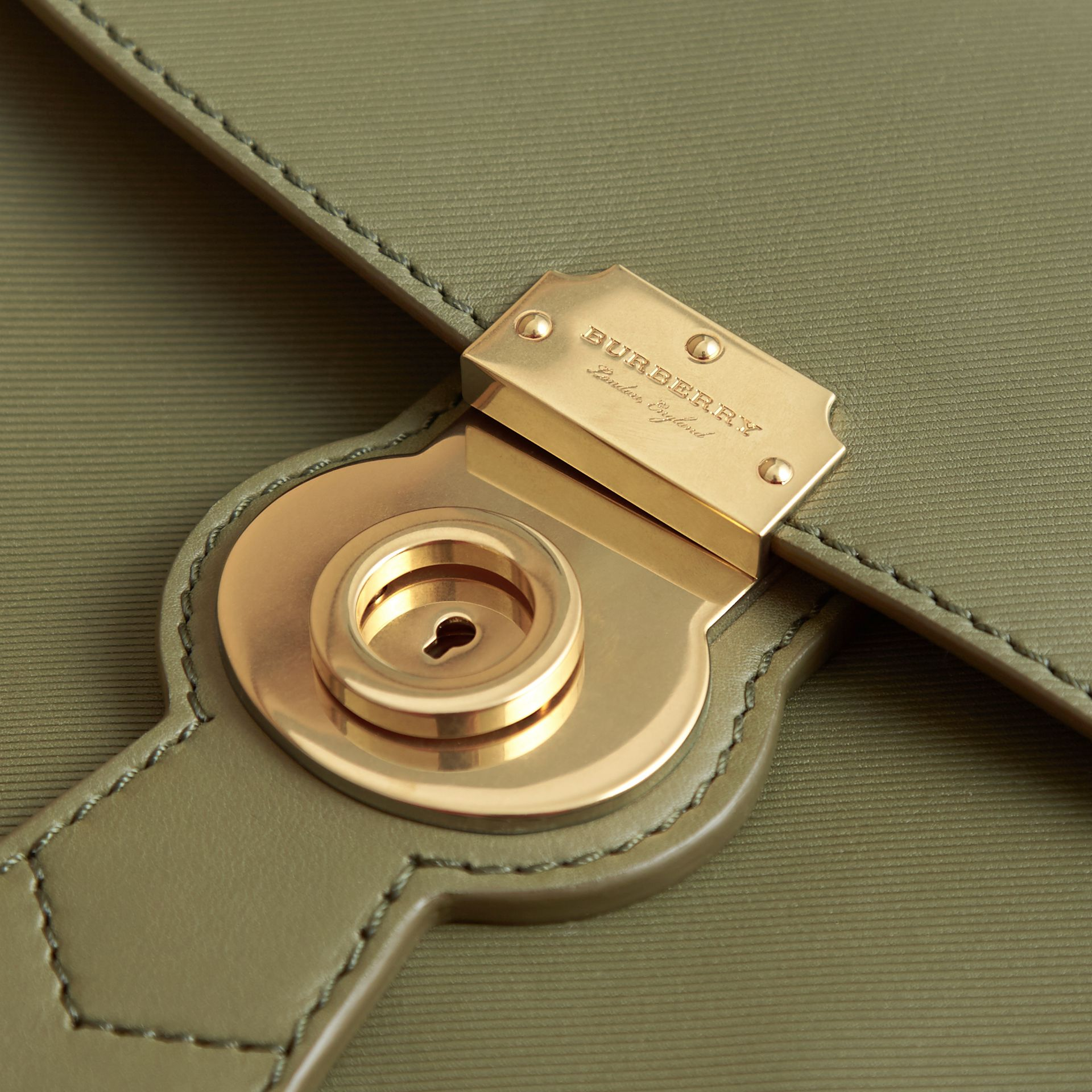 The Medium DK88 Top Handle Bag Moss Green - gallery image 7