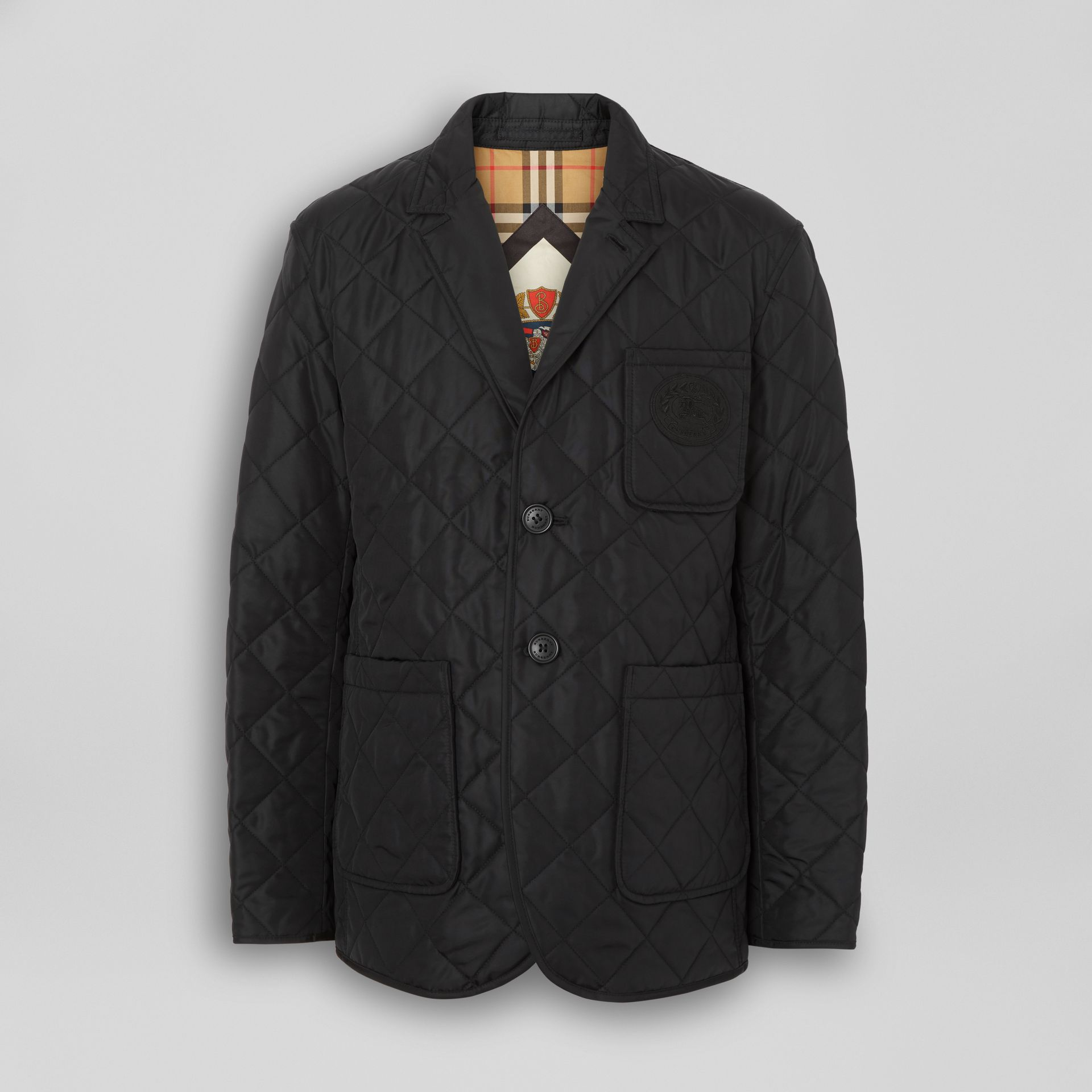 Diamond Quilted Thermoregulated Blazer in Black - Men | Burberry United States - gallery image 3