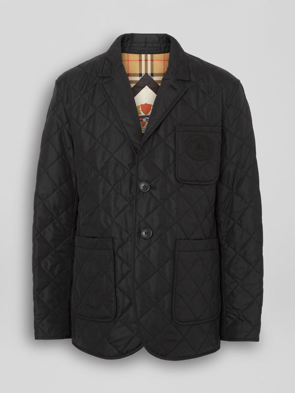 Diamond Quilted Thermoregulated Blazer in Black - Men | Burberry Australia - cell image 3