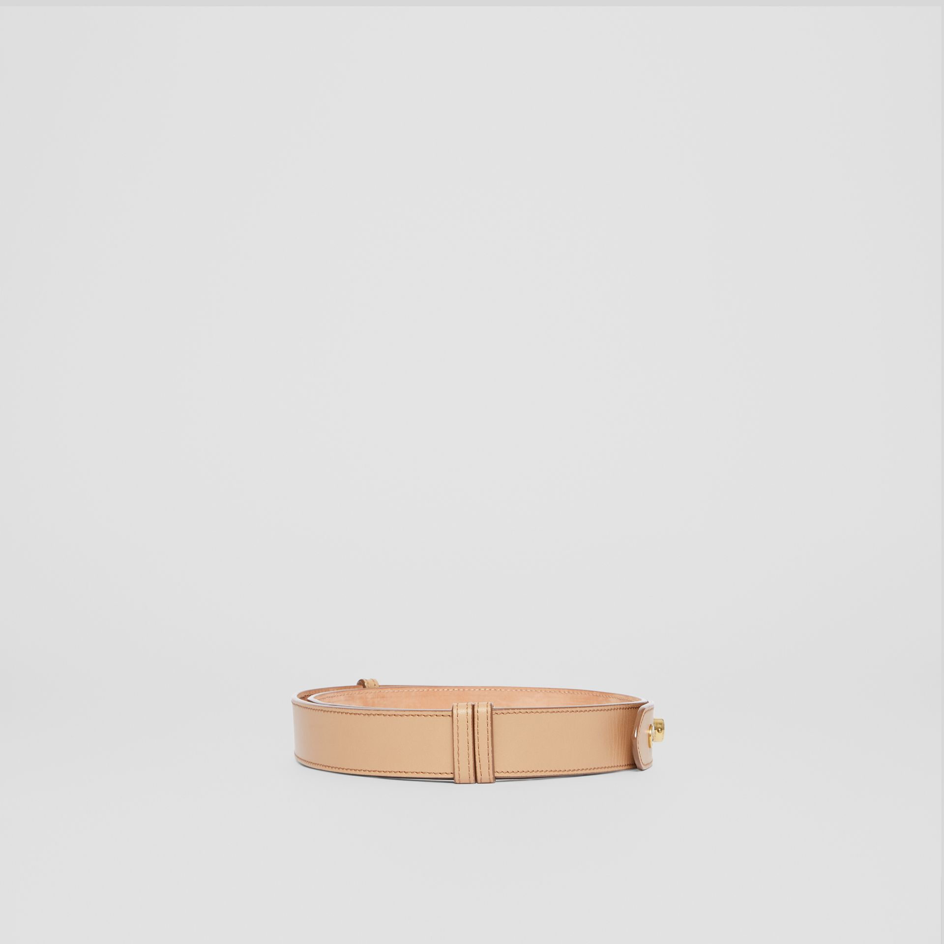 Triple Stud Leather Belt in Honey - Women | Burberry - gallery image 4