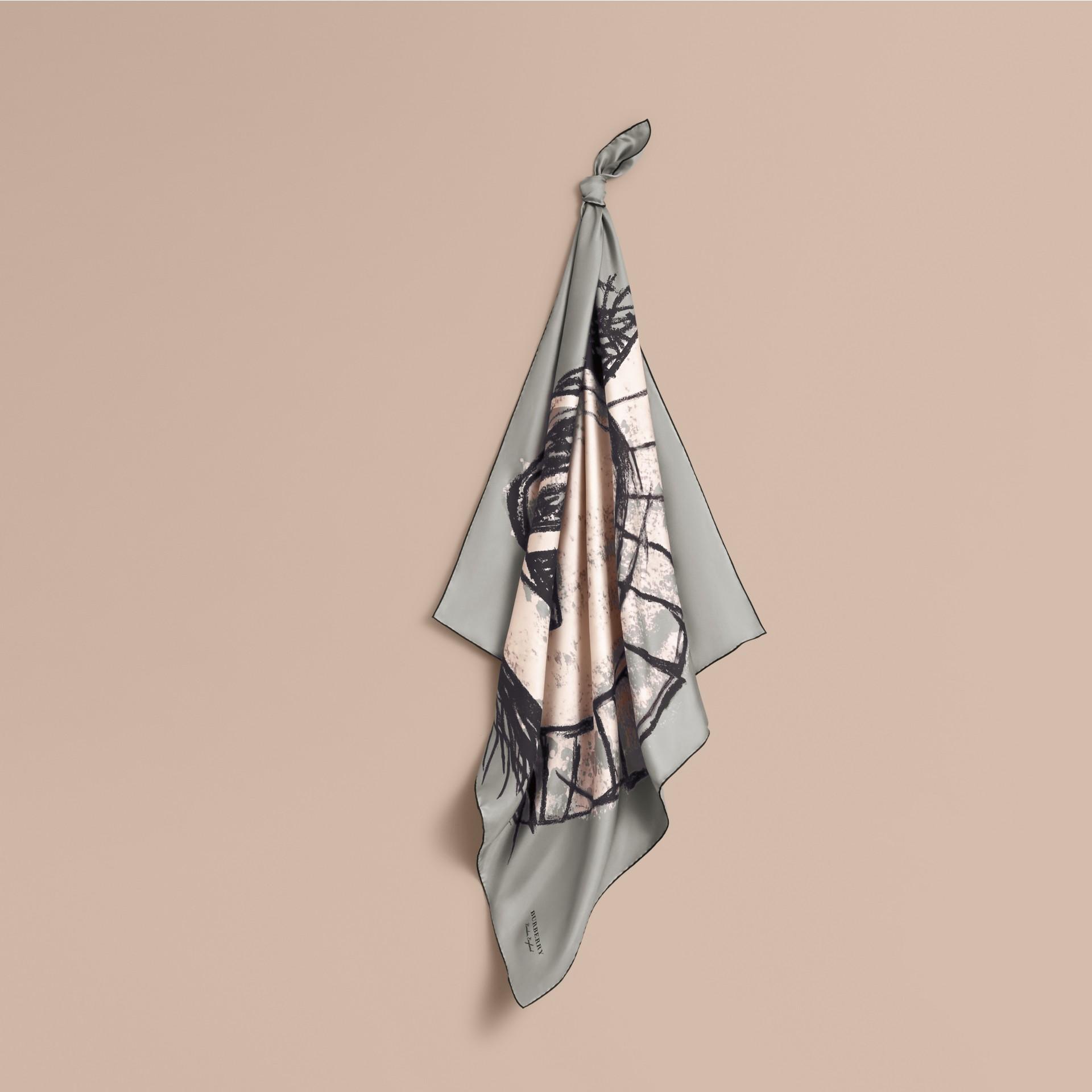 Pallas Helmet Motif Silk Square – Small - gallery image 1