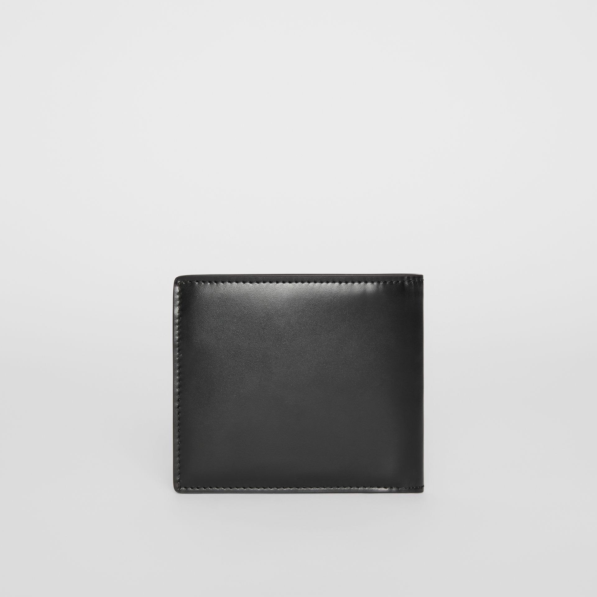 Monogram Motif Leather International Bifold Wallet in Black - Men | Burberry United Kingdom - gallery image 4
