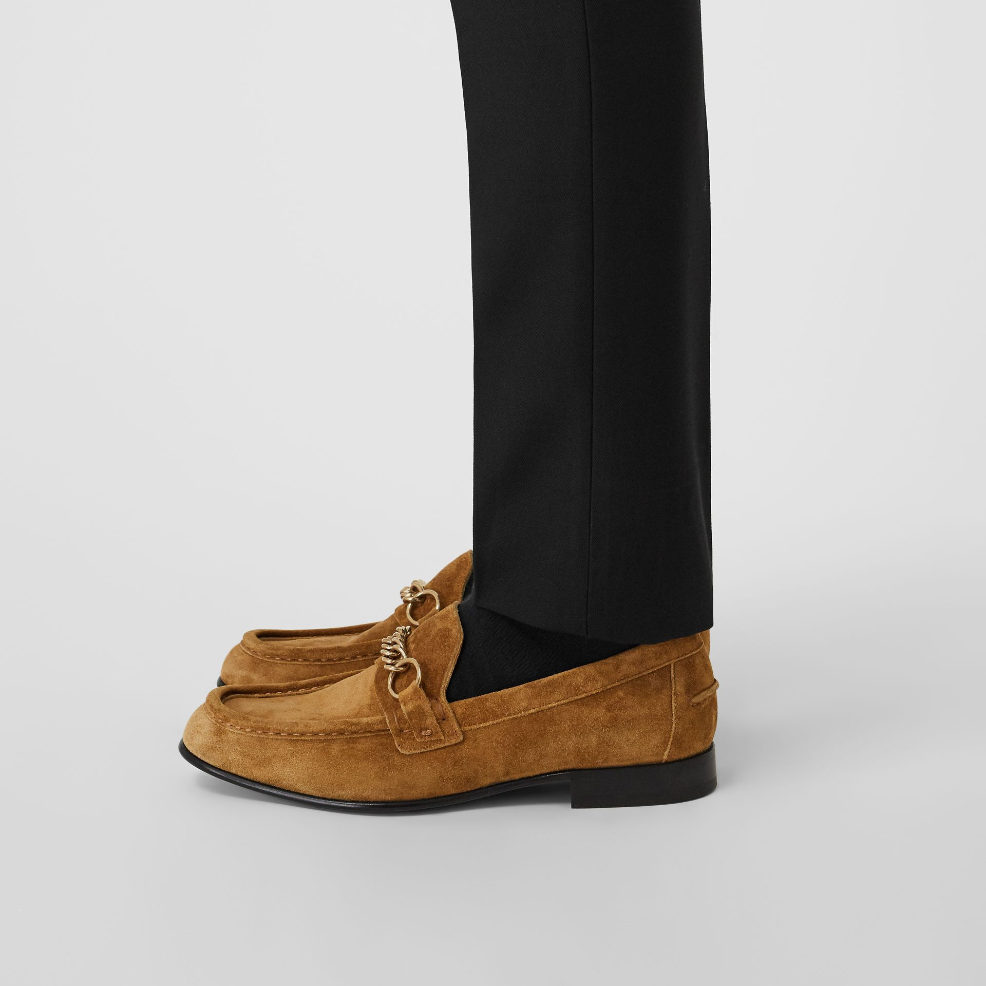 The Suede Link Loafer in Malt Brown - Men | Burberry - gallery image 2
