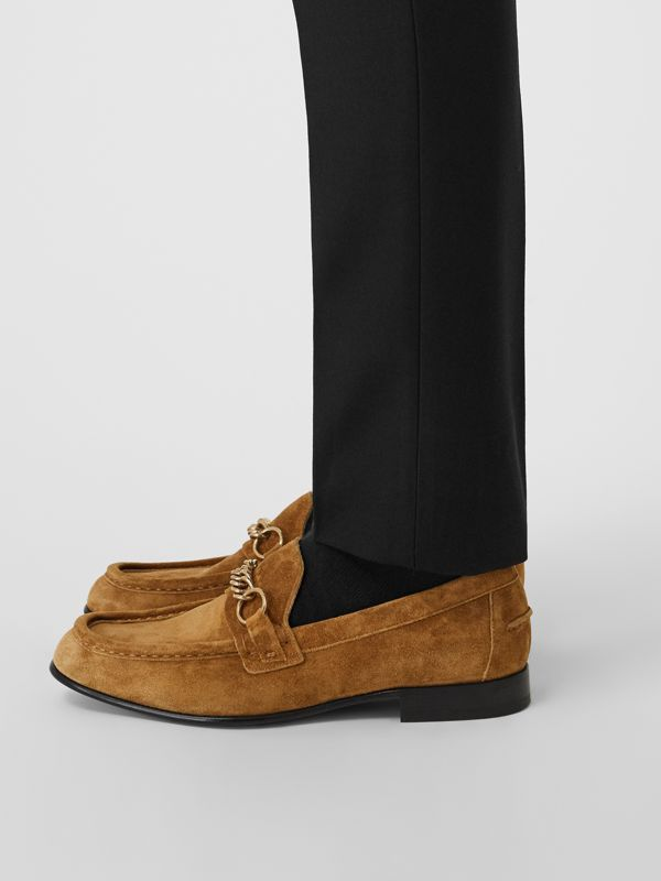 The Suede Link Loafer in Malt Brown - Men | Burberry - cell image 2