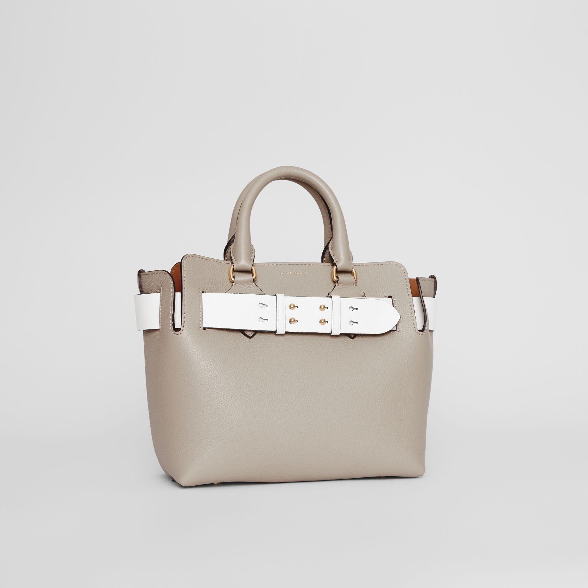 The Small Tri-tone Leather Belt Bag in Mineral Grey - Women | Burberry United Kingdom - gallery image 6