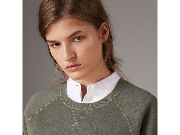 Lightweight Merino Wool Silk Sweater in Aqua Green - Women | Burberry - cell image 1
