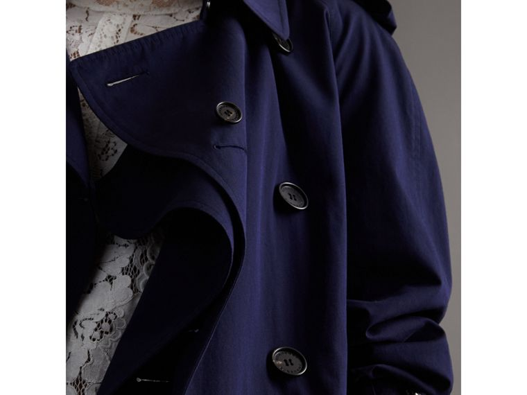 Unisex Tropical Gabardine Trench Jacket in Blueberry - Women | Burberry - cell image 1