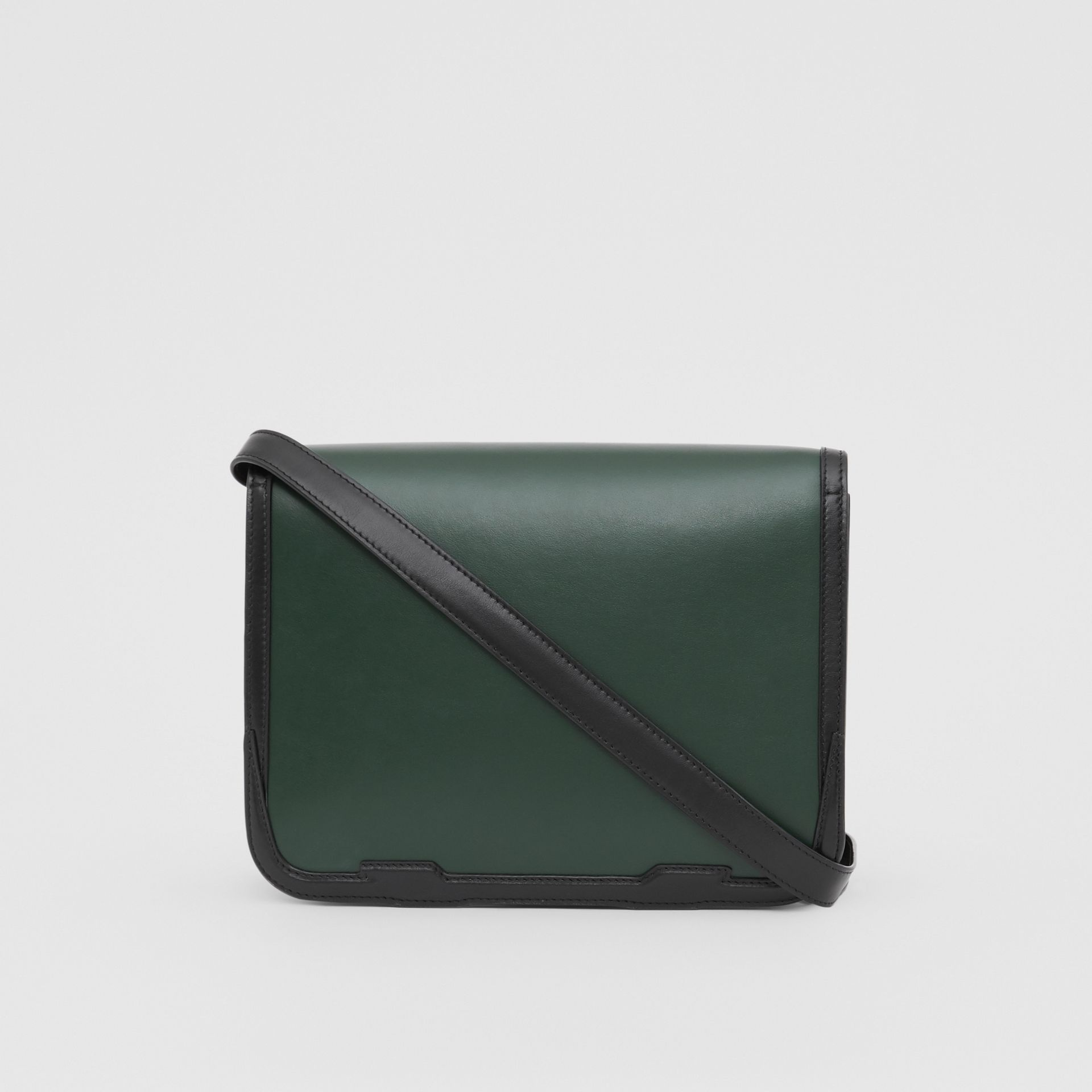 Medium Appliqué Leather TB Bag in Dark Pine Green - Women | Burberry United Kingdom - gallery image 5