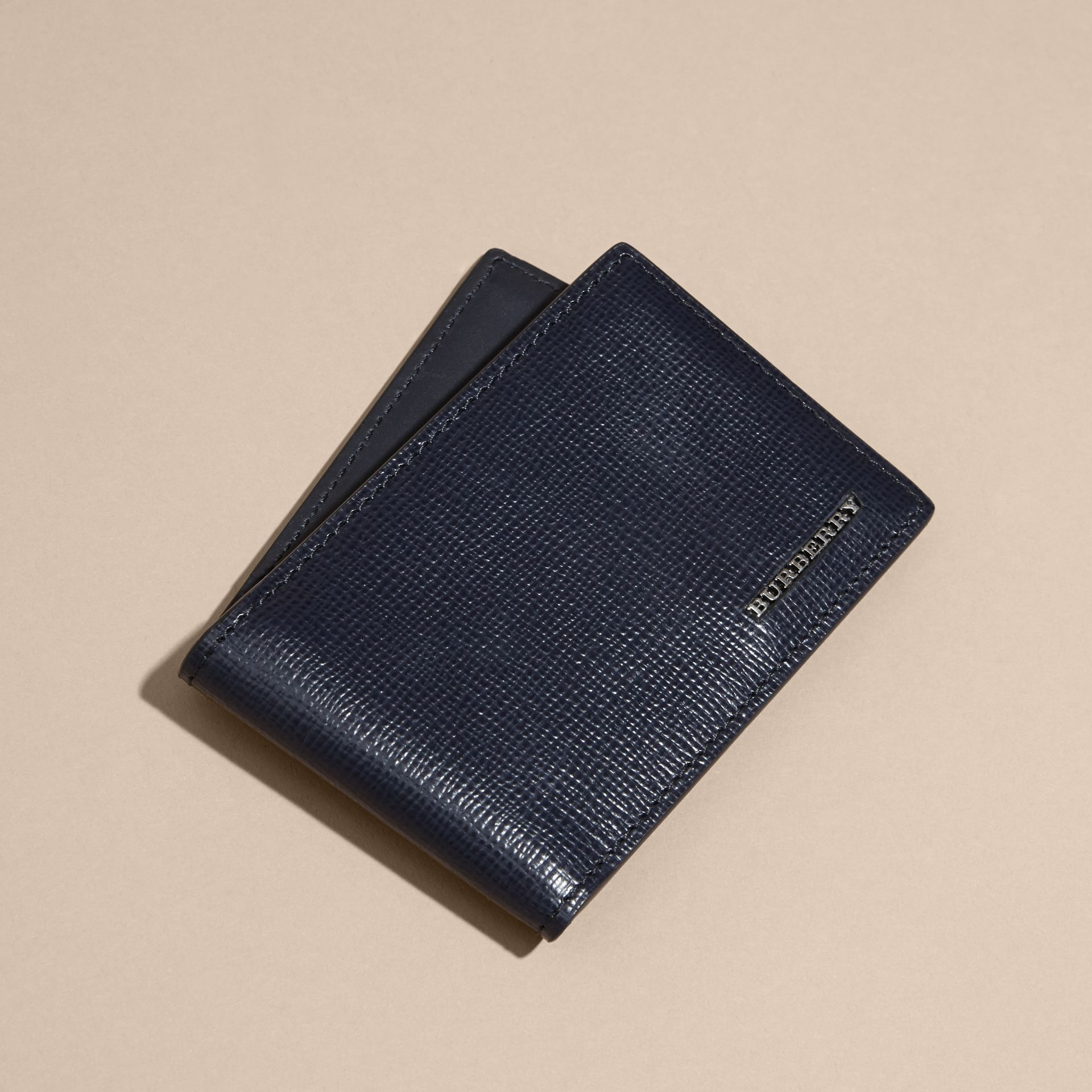 Dark navy London Leather ID Wallet Dark Navy - gallery image 3
