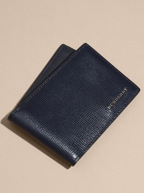 London Leather ID Wallet Dark Navy - cell image 2