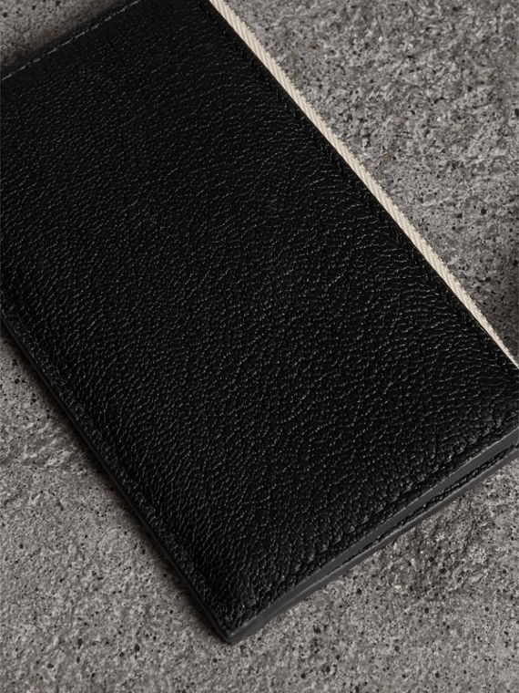 Two-tone Leather Zip Card Case in Black | Burberry Australia - cell image 2