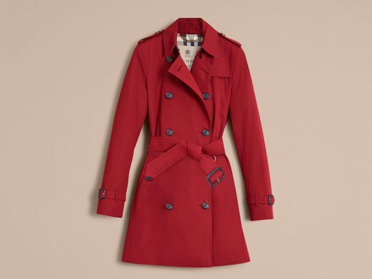 Parade red The Kensington – Mid-Length Heritage Trench Coat Parade Red - cell image 4