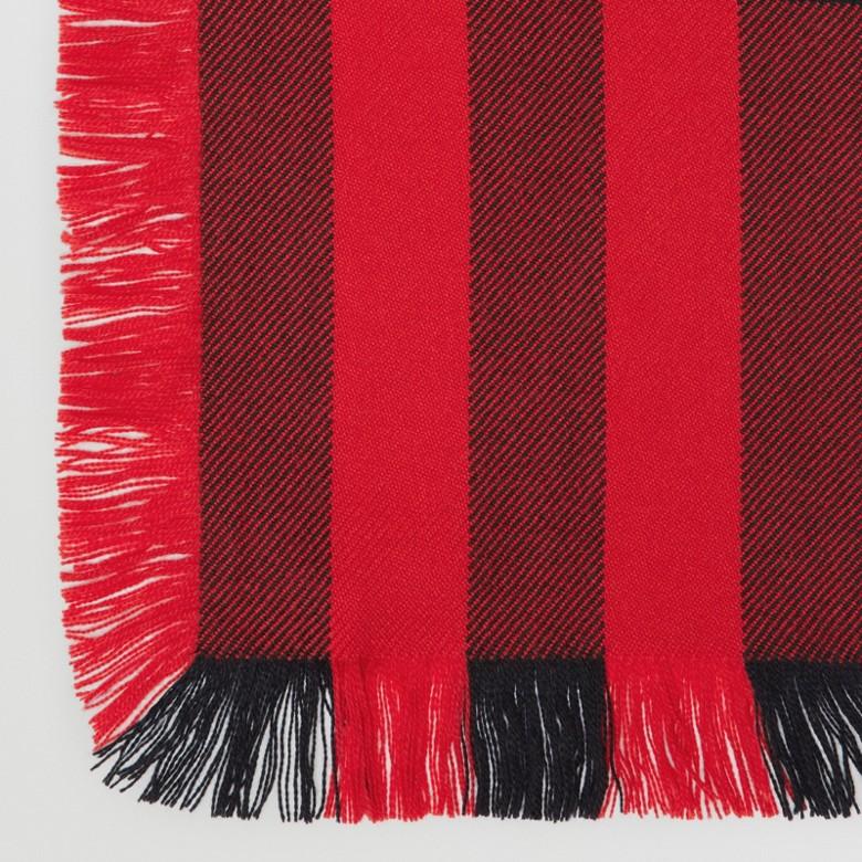 Burberry - Écharpe en laine à motif check et à franges - 2