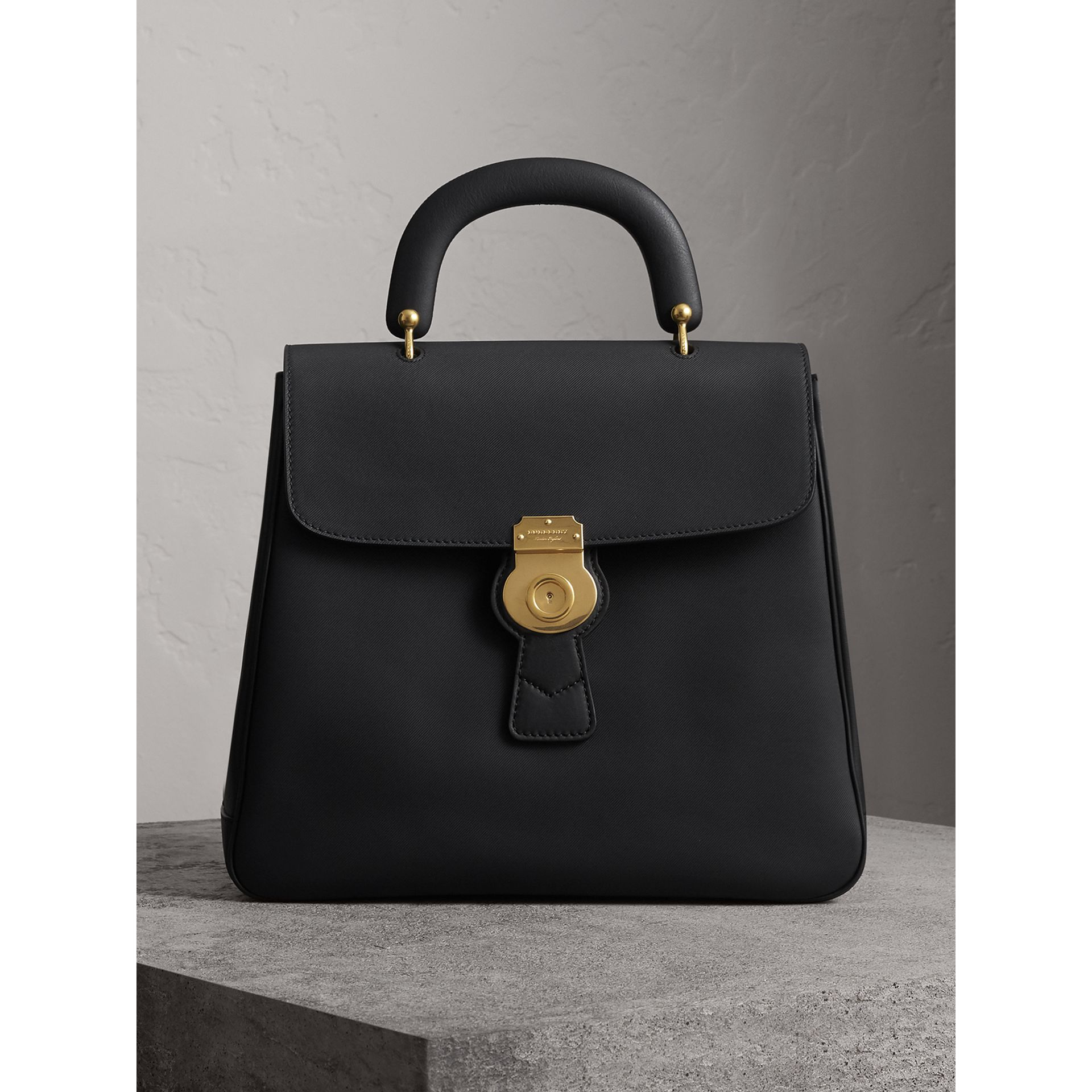 The Large DK88 Top Handle Bag in Black - Women | Burberry - gallery image 0
