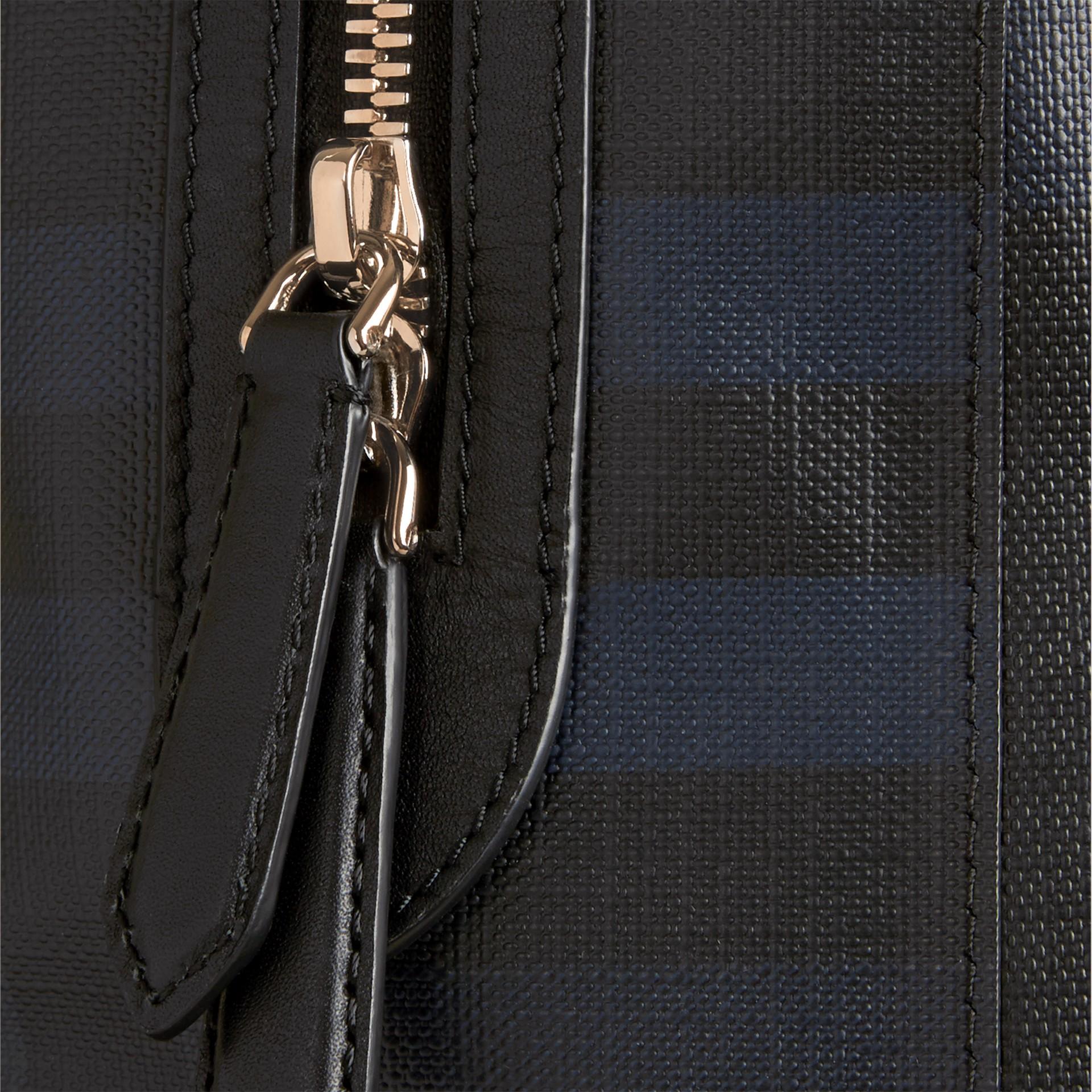 Navy/black London Check Backpack Navy/black - gallery image 2