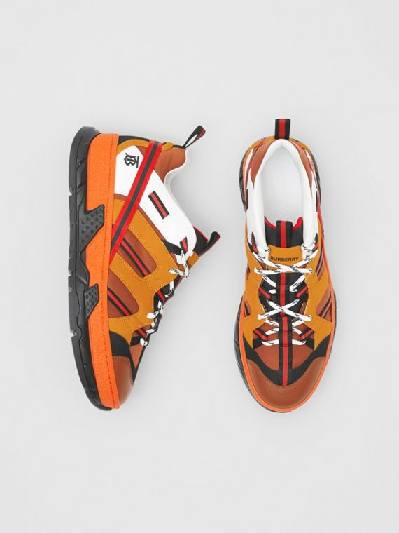 Sneakers Union en nylon et nubuck (Orange)