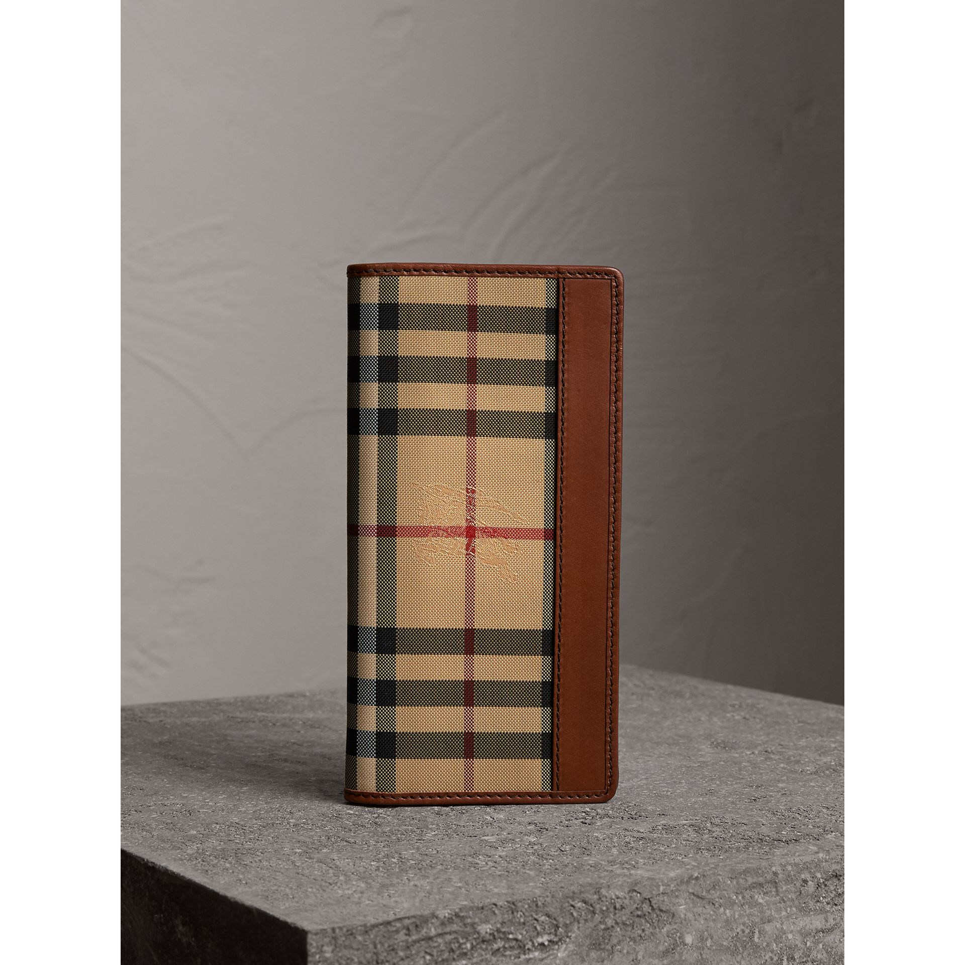 Horseferry Check Continental Wallet in Tan - Men | Burberry - gallery image 5