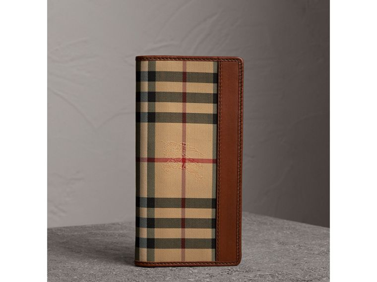 Horseferry Check Continental Wallet in Tan - Men | Burberry United Kingdom - cell image 4