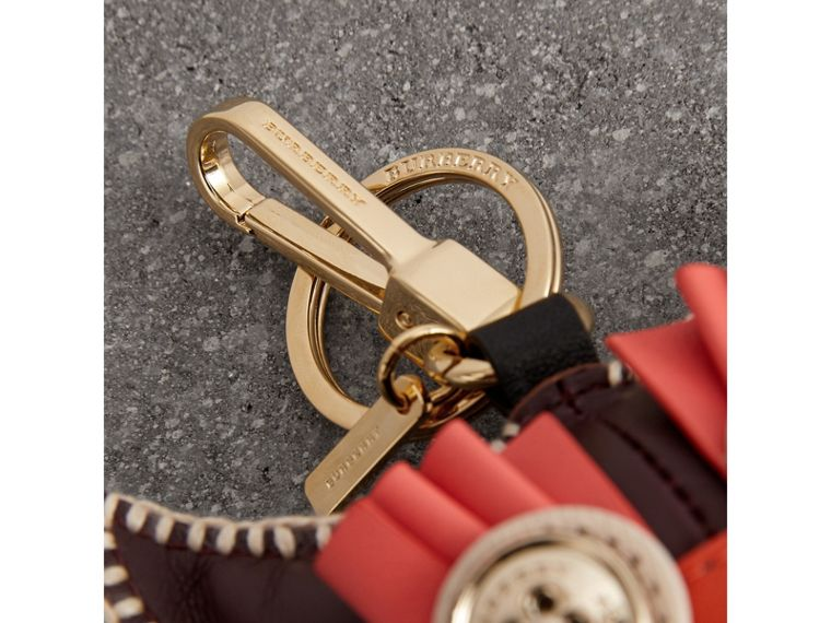 Mavis The Owl Leather Charm in Deep Claret - Women | Burberry - cell image 1