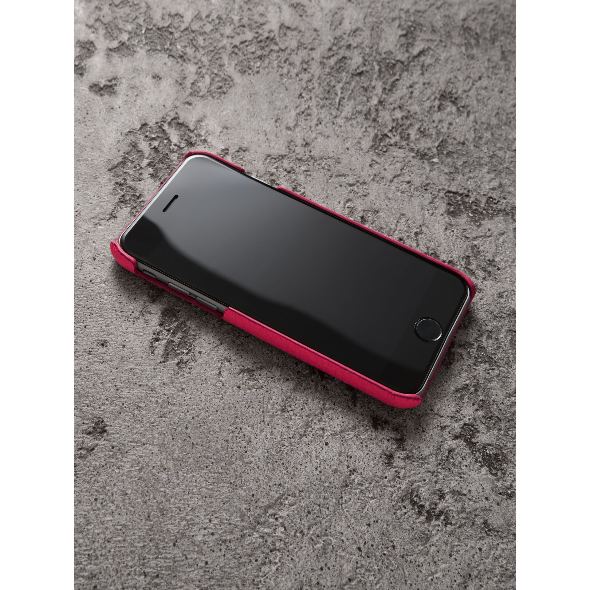Neon Leather iPhone 7 Case in Bright Pink - Women | Burberry - gallery image 2
