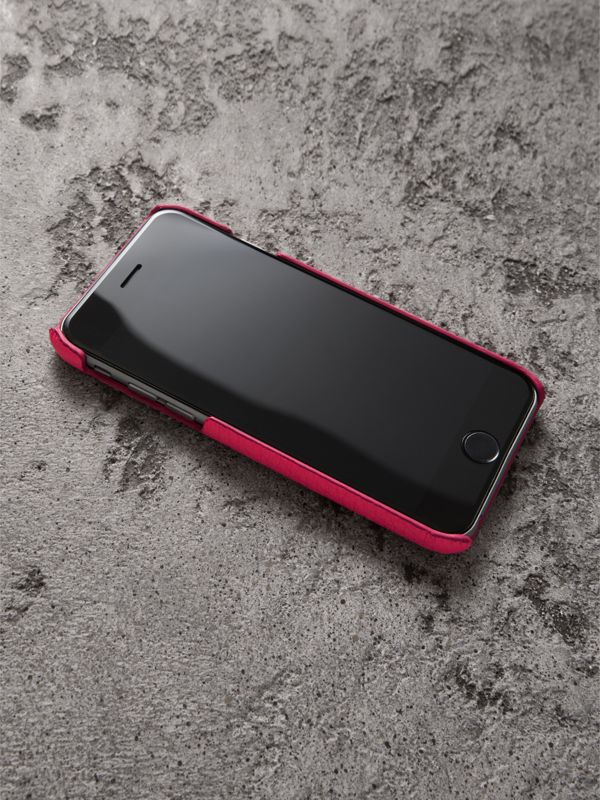 Neon Leather iPhone 7 Case in Bright Pink | Burberry United Kingdom - cell image 2
