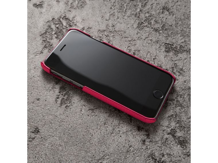 Neon Leather iPhone 7 Case in Bright Pink - Women | Burberry - cell image 2