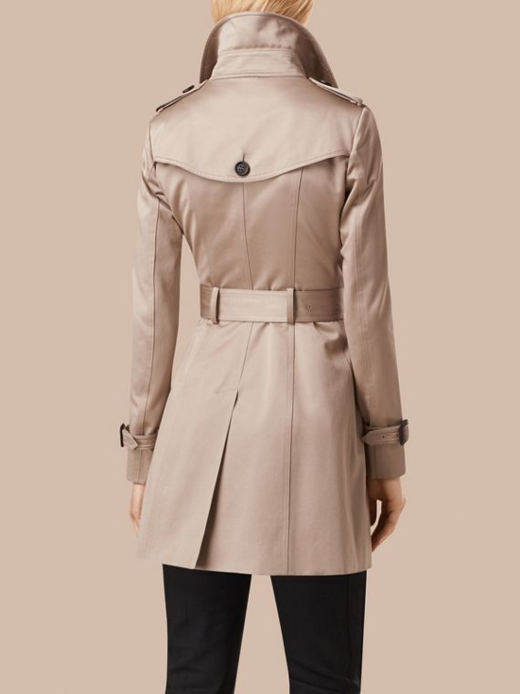 Stone Cotton Sateen Trench Coat Stone - cell image 3