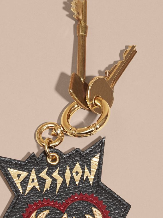 Black Passion Leather Key Charm - cell image 2