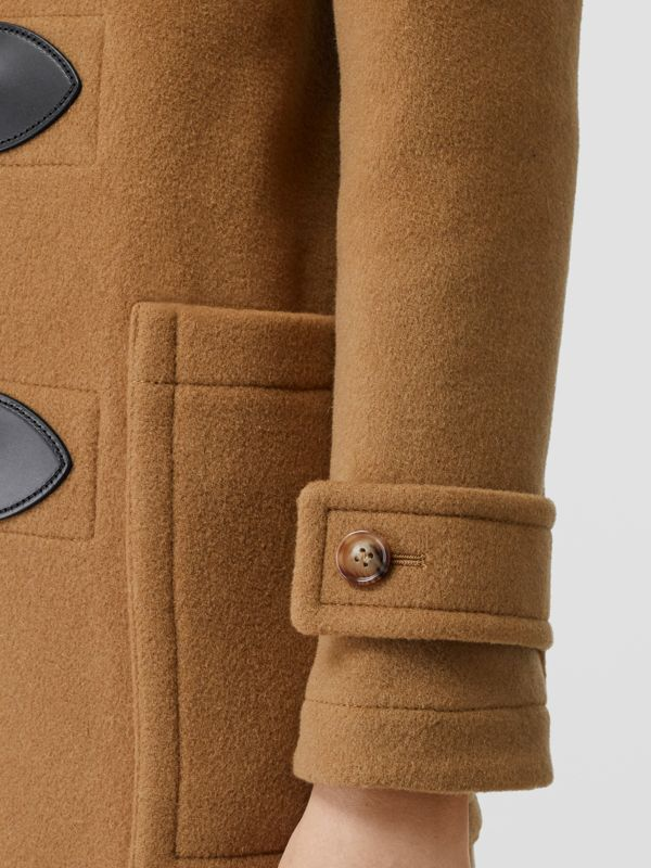 Wool Blend Duffle Coat in Mid Camel - Women | Burberry Australia - cell image 3