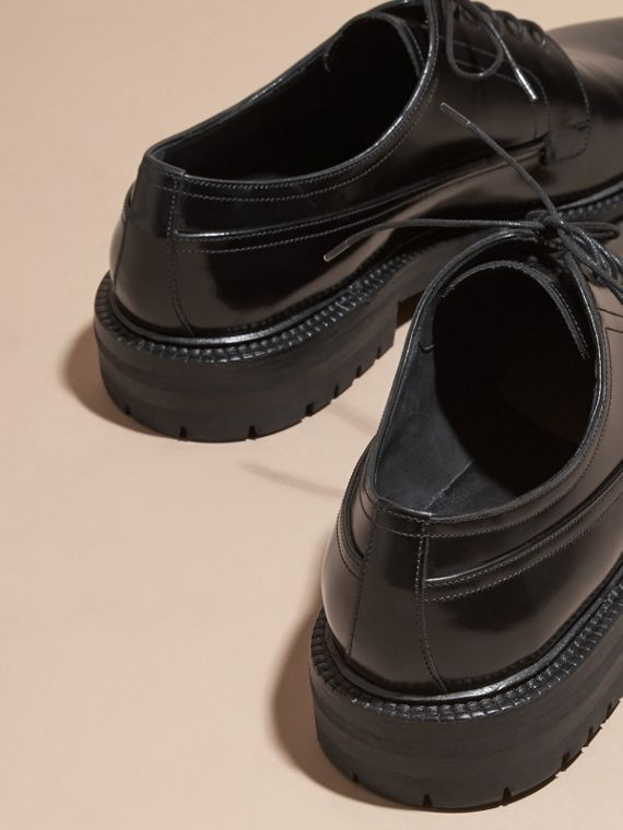 Black Leather Derby Shoes - cell image 3