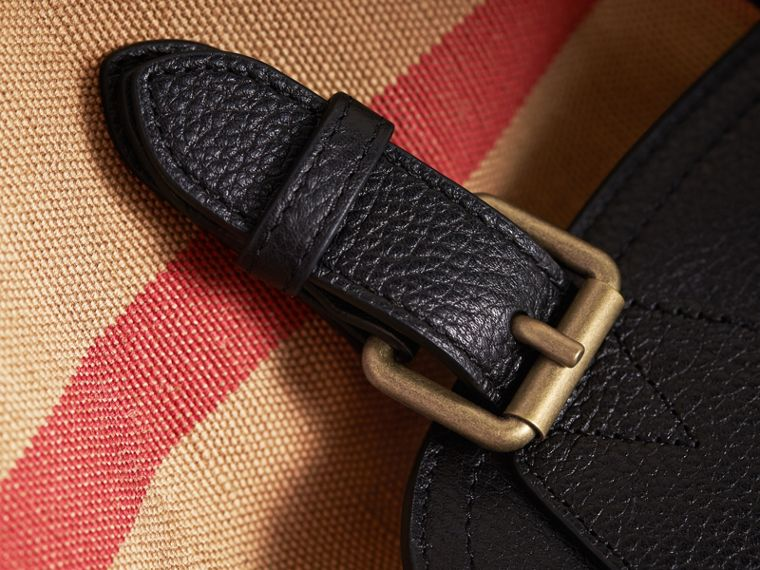 The Large Rucksack in Canvas Check and Leather in Classic - Men | Burberry - cell image 1
