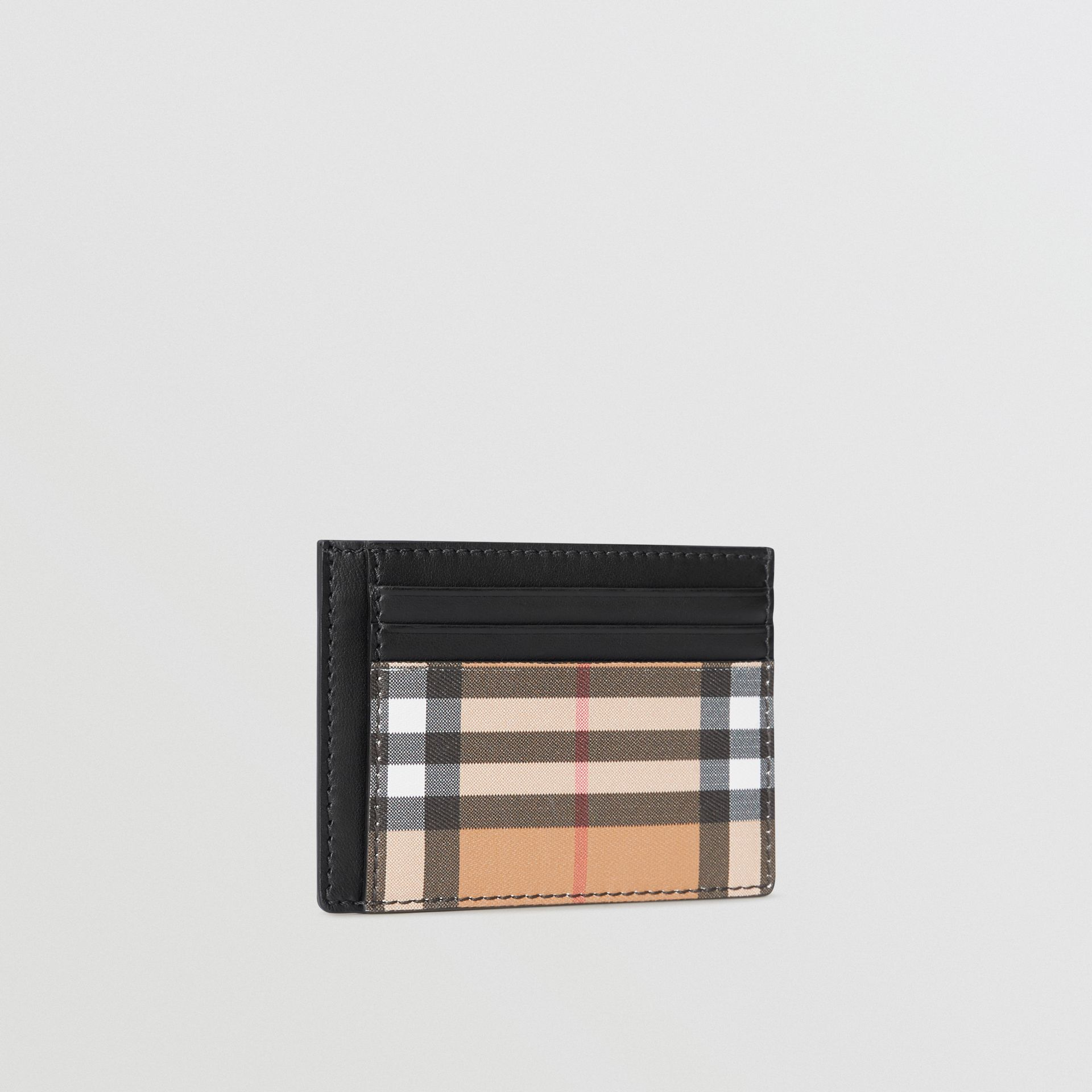 Vintage Check Leather Card Case in Black - Men | Burberry Singapore - gallery image 4