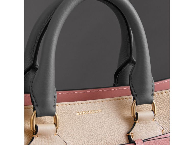 The Small Tri-tone Leather Belt Bag in Limestone/dusty Rose - Women | Burberry United Kingdom - cell image 1