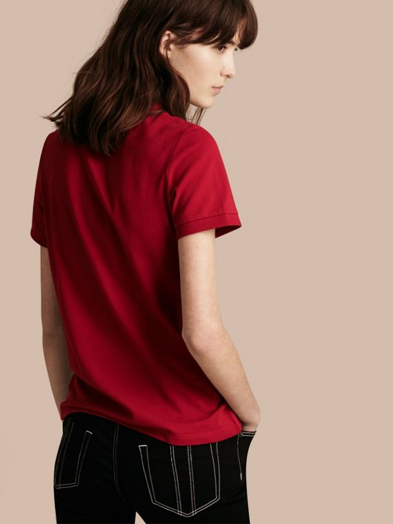 Military red Stretch Cotton Piqué Polo Shirt Military Red - cell image 2